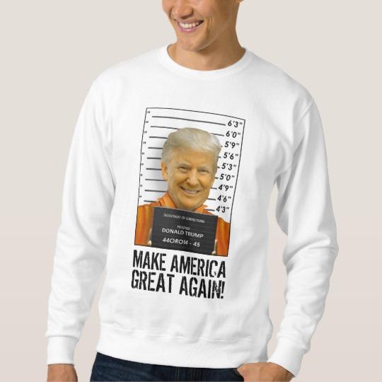 Trump Prison Mugshot MAGA Men's Basic Sweatshirt