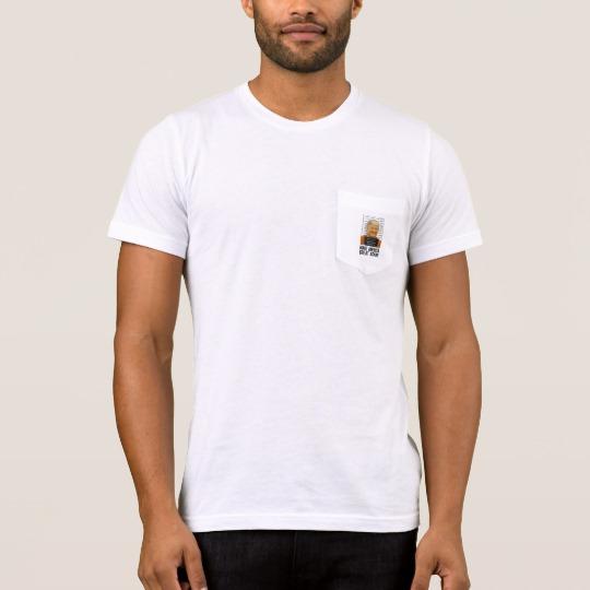Trump Prison Mugshot MAGA Men's Bella+Canvas Pocket T-Shirt