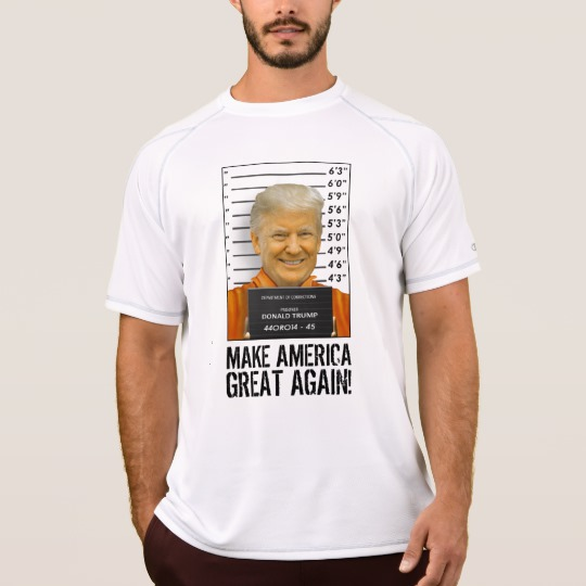 Trump Prison Mugshot MAGA Men's Champion Double Dry Mesh T-Shirt