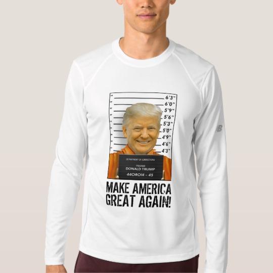 Trump Prison Mugshot MAGA Men's New Balance Long Sleeve T-Shirt