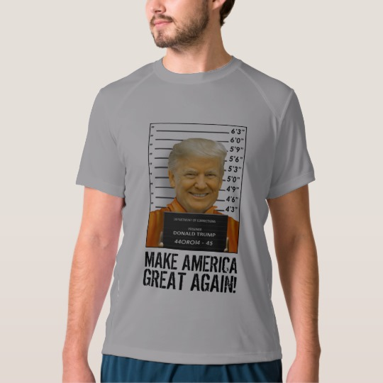 Trump Prison Mugshot MAGA Men's New Balance T-Shirt