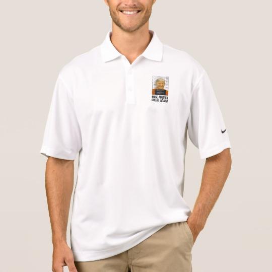 Trump Prison Mugshot MAGA Men's Nike Dri-FIT Pique Polo Shirt