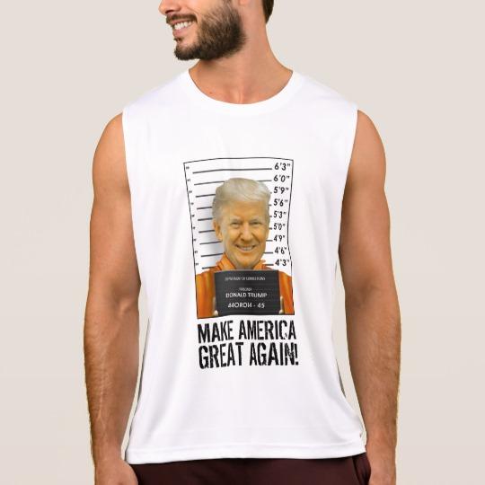 Trump Prison Mugshot MAGA Men's Performance Tank Top