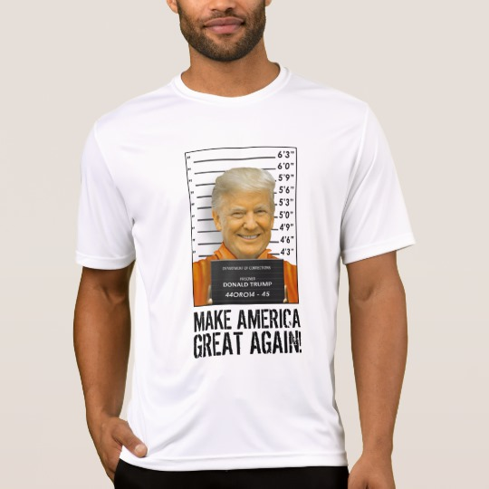 Trump Prison Mugshot MAGA Men's Sport-Tek Competitor T-Shirt