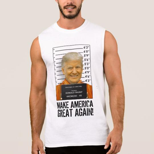 Trump Prison Mugshot MAGA Men's Ultra Cotton Sleeveless T-Shirt