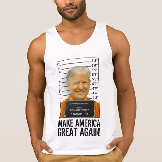 Trump Prison Mugshot MAGA Men's Ultra Cotton Tank Top
