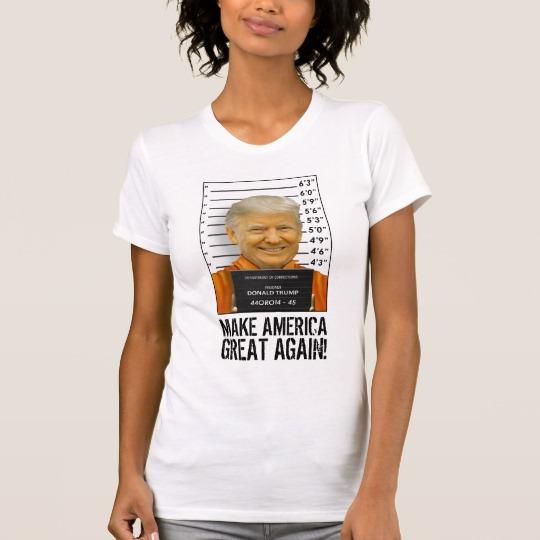 Trump Prison Mugshot MAGA Women's Alternative Apparel Crew Neck T-Shirt