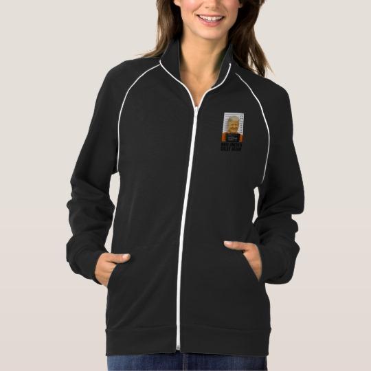 Trump Prison Mugshot MAGA Women's American Apparel California Fleece Track Jacket