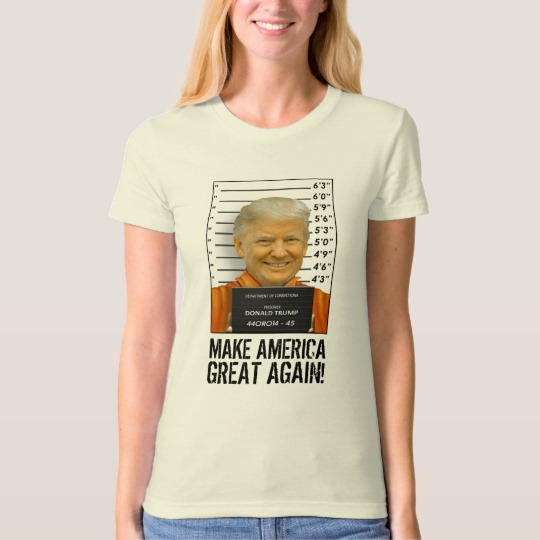 Trump Prison Mugshot MAGA Women's American Apparel Organic T-Shirt