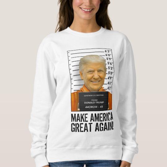 Trump Prison Mugshot MAGA Women's Basic Sweatshirt