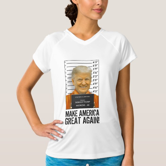Trump Prison Mugshot MAGA Women's Champion Double-Dry V-Neck T-Shirt
