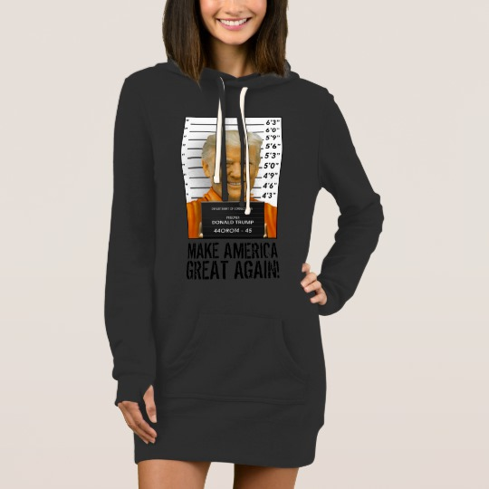 Trump Prison Mugshot MAGA Women's Hoodie Dress