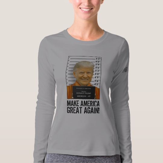 Trump Prison Mugshot MAGA Women's New Balance Long Sleeve T-Shirt