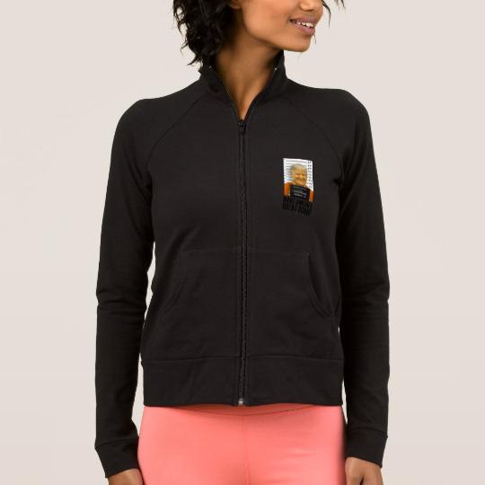 Trump Prison Mugshot MAGA Women's Practice Jacket