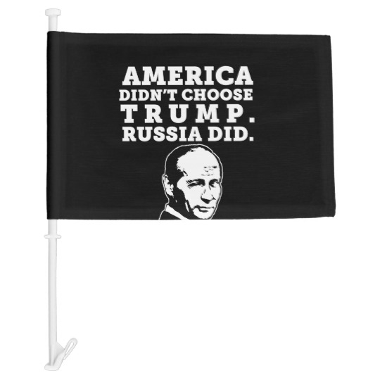 Russia Chose Trump Car Flag