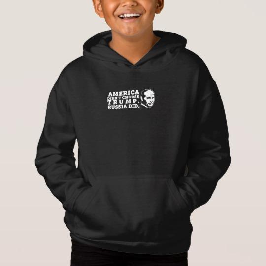 Russia Chose Trump Kids' Fleece Pullover Hoodie
