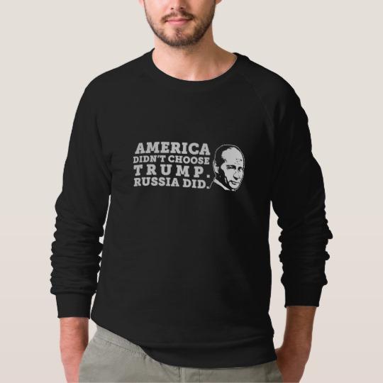 Russia Chose Trump Men's American Apparel Raglan Sweatshirt