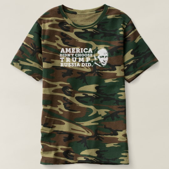 Russia Chose Trump Men's Camouflage T-Shirt
