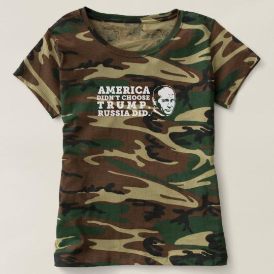 Russia Chose Trump Women's Camouflage T-Shirt