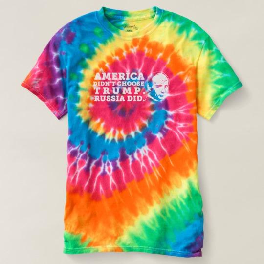 Russia Chose Trump Women's Spiral Tie-Dye T-Shirt