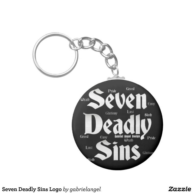 Seven Deadly Sins Logo Keychains