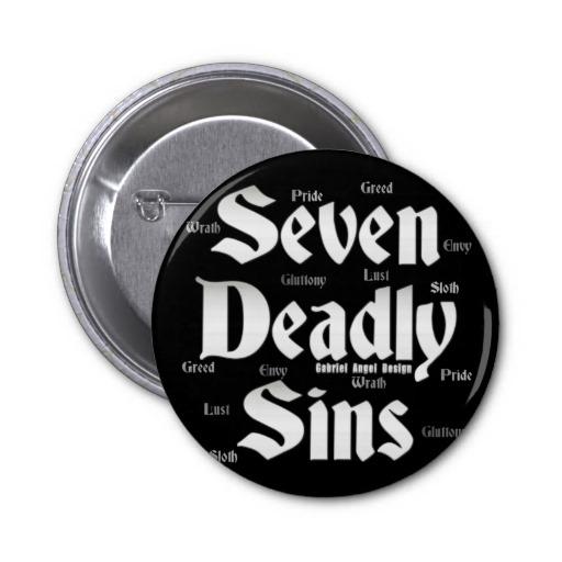 Seven Deadly Sins Logo Pinback Button
