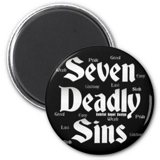 Seven Deadly Sins Logo Refrigerator Magnets
