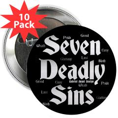 """The Seven Deadly Sins 2.25"""" Button (10 pack)"""