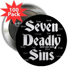 """The Seven Deadly Sins 2.25"""" Button (100 pack)"""