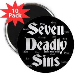 "The Seven Deadly Sins 2.25"" Magnet (10 pack)"