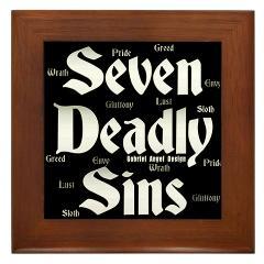 The Seven Deadly Sins Framed Tile