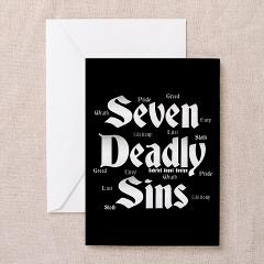 The Seven Deadly Sins Greeting Cards (Pk of 10)