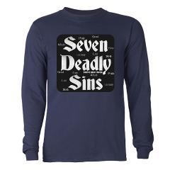 The Seven Deadly Sins Long Sleeve Dark T-Shirt