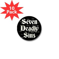 The Seven Deadly Sins Mini Button (10 pack)