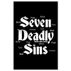 The Seven Deadly Sins Mini Poster Print