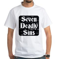 The Seven Deadly Sins White T-Shirt