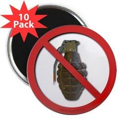 """No Grenades 2.25"""" Magnet (10 pack)"""