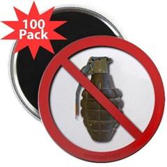 """No Grenades 2.25"""" Magnet (100 pack)"""