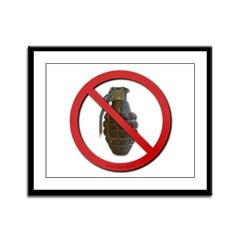 No Grenades Framed Panel Print