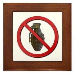 No Grenades Framed Tile