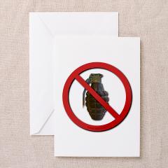 No Grenades Greeting Cards (Pk of 10)