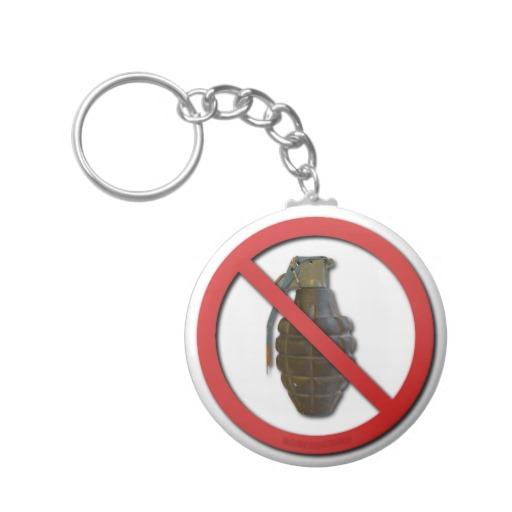 No Grenades Keychains
