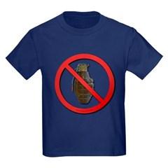 No Grenades Kids Dark T-Shirt