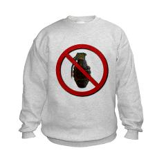 No Grenades Kids Sweatshirt