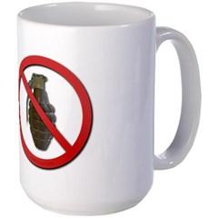No Grenades Large Mug