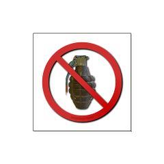 No Grenades Large Poster