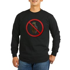 No Grenades Long Sleeve Dark T-Shirt