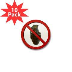 No Grenades Mini Button (10 pack)
