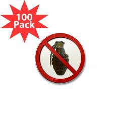 No Grenades Mini Button (100 pack)