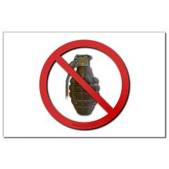 No Grenades Mini Poster Print